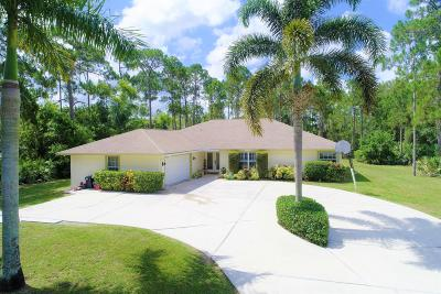 Jupiter Single Family Home For Sale: 13518 150th Court