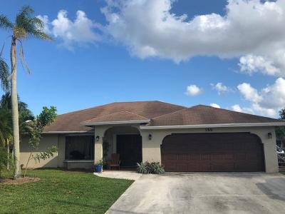 Royal Palm Beach Single Family Home For Sale: 155 Rivera Court