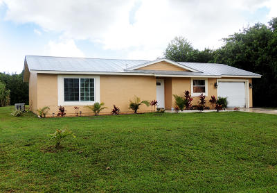 Port Saint Lucie Single Family Home For Sale: 357 NW Biltmore Street
