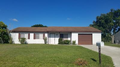 Port Saint Lucie Single Family Home For Sale: 3132 SW Watson Court