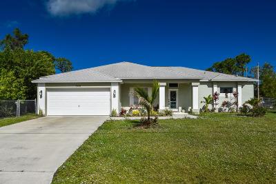 Port Saint Lucie Single Family Home For Sale: 5574 NW Cruzan Avenue