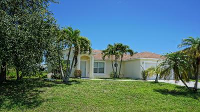Port Saint Lucie Single Family Home For Sale: 2209 SE Master Avenue