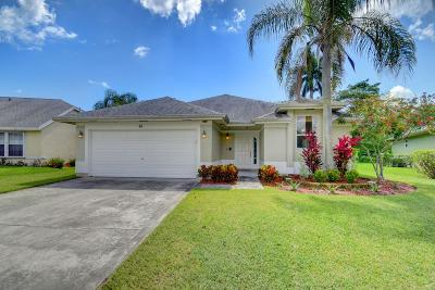 Boynton Beach Single Family Home For Sale: 46 Heather Cove Drive