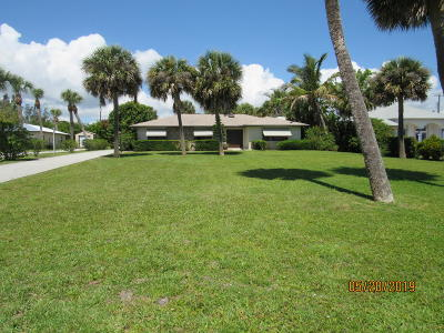 Fort Pierce Single Family Home Contingent: 5003 S Indian River Drive