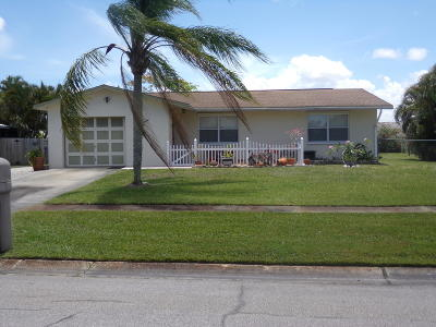 Port Saint Lucie Single Family Home For Sale: 314 NE Camelot Drive