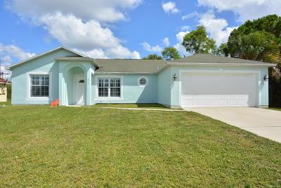 Port Saint Lucie Single Family Home For Sale: 473 SW Kaabe Avenue