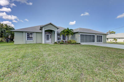 Port Saint Lucie Single Family Home For Sale: 5767 NW Zenith Drive