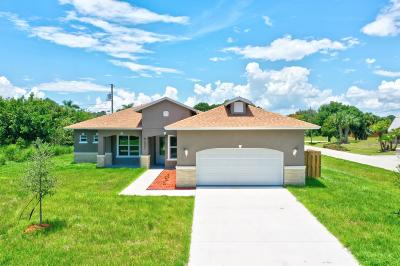 Port Saint Lucie Single Family Home For Sale: 3902 SW Laffite Street