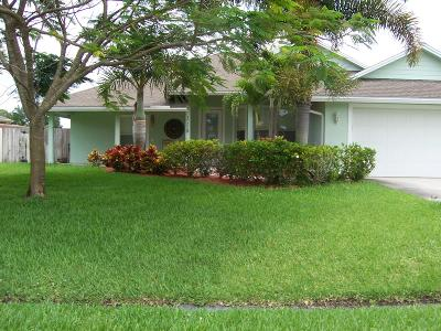 Port Saint Lucie Single Family Home For Sale: 3725 SW Wycoff Street