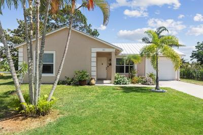 Jupiter Single Family Home For Sale: 141 Lakeside Drive