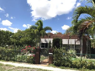 West Palm Beach Single Family Home For Sale: 831 Franklin Road