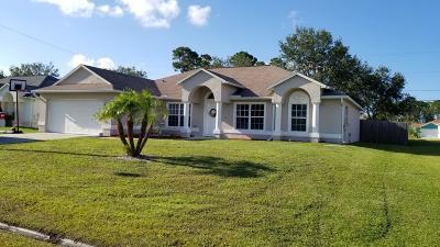 Port Saint Lucie Single Family Home For Sale: 985 SW Eureka Avenue