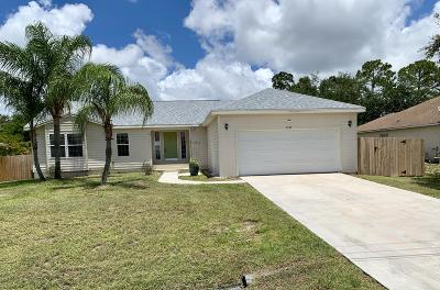 Port Saint Lucie Single Family Home For Sale: 2509 SW Cooper Lane