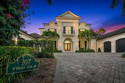 Jupiter FL Single Family Home For Sale: $10,000,000