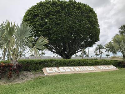 West Palm Beach Condo For Sale: 2867 Ashley Drive W #D