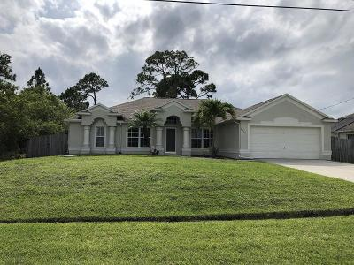 Port Saint Lucie Single Family Home For Sale: 4256 SW Oblique Street