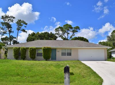 Port Saint Lucie Single Family Home For Sale: 1581 SW Bellevue Avenue