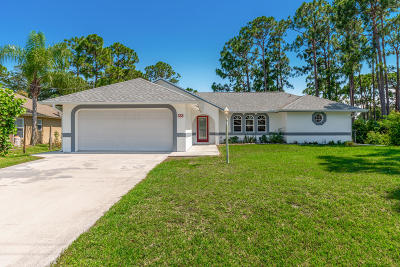 Port Saint Lucie Single Family Home For Sale: 658 SE Sweetbay Avenue