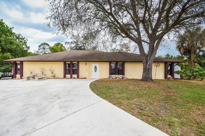 Fort Pierce Single Family Home For Sale: 4800 Myrtle Drive