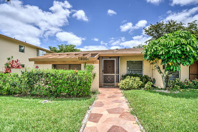 Delray Beach Single Family Home For Sale: 5800 Princess Palm Court #A