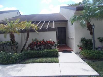 Lake Worth Single Family Home For Sale: 3923 Silver Maple Drive #D