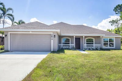 Fort Pierce Single Family Home For Sale: 8516 Waterstone Boulevard
