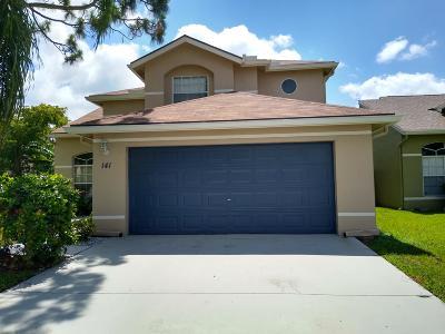 Royal Palm Beach Single Family Home For Sale: 141 Heatherwood Drive