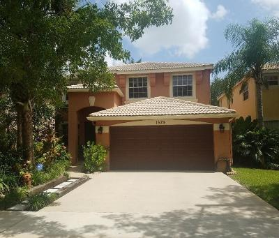 Royal Palm Beach Single Family Home For Sale: 1525 Running Oak Lane