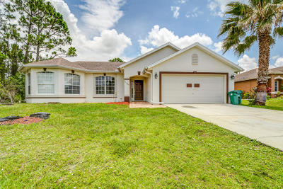 Port Saint Lucie Single Family Home Contingent: 3125 SW Crenshaw Street