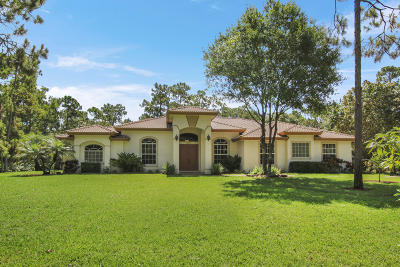 Jupiter Single Family Home For Sale: 16170 134th Terrace