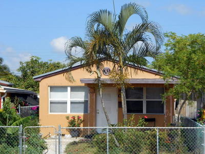 Lake Worth Single Family Home For Sale: 415 S F Street