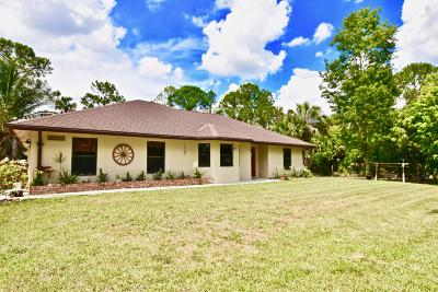 Loxahatchee Single Family Home For Sale: 17857 82 Road