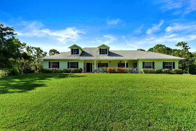 Jupiter Single Family Home For Sale: 11780 154th Road