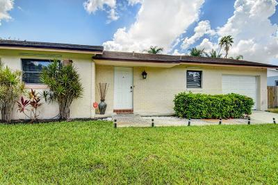 Boca Raton Single Family Home Contingent: 10242 Sleepy Brook Way