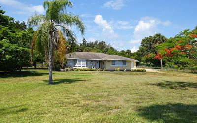 Jensen Beach Single Family Home For Sale: 13121 S Indian River S Drive