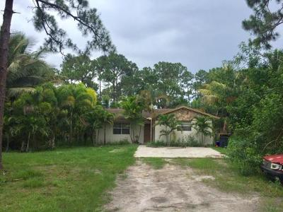 Royal Palm Beach Single Family Home For Sale: 12276 59th Street