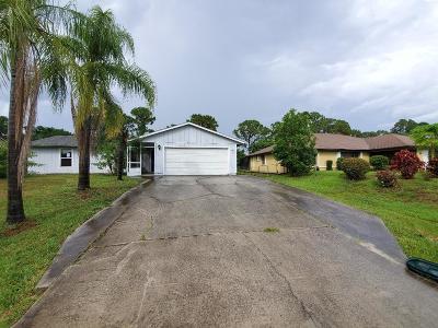 Port Saint Lucie Single Family Home For Sale: 1919 SW Taurus Lane