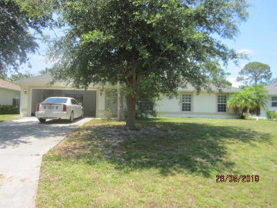 Port Saint Lucie Single Family Home For Sale: 1441 SW Iffla Avenue