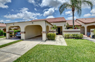 Boynton Beach Single Family Home For Sale: 5543 Parkwalk Circle E