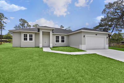 Loxahatchee Single Family Home For Sale: 17684 91st Place