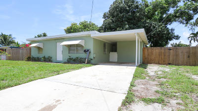 Lake Worth Single Family Home For Sale: 5125 Vermont Avenue