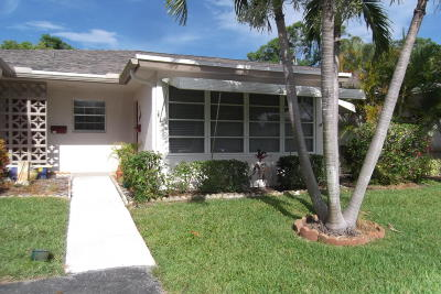 delray beach Single Family Home For Sale: 1305 High Point Way SE #B