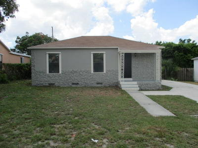 West Palm Beach Single Family Home Contingent: 952 43rd Street
