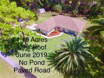 Loxahatchee Single Family Home For Sale: 15665 Key Lime Boulevard