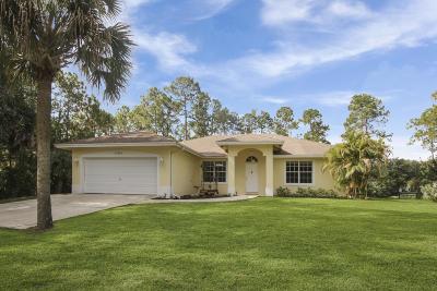 Loxahatchee Single Family Home Contingent: 17070 Murcott Boulevard