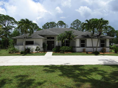 Jupiter Single Family Home For Sale: 16374 134th Terrace