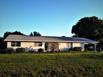 Fort Pierce Single Family Home For Sale: 6701 Santa Clara Boulevard