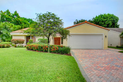 Boca Raton Single Family Home Contingent: 7161 Woodbridge Circle
