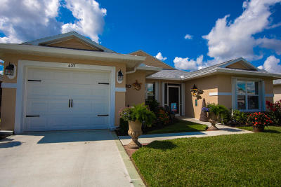 Fort Pierce Single Family Home For Sale: 437 European Lane