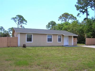 Fort Pierce Single Family Home Contingent: 2212 42nd Street